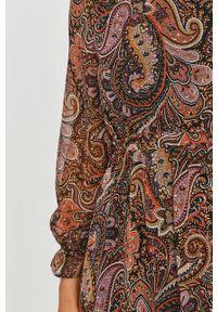 Wielokolorowa sukienka Answear Lab prosta, mini, na co dzień, z długim rękawem