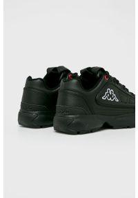 Czarne buty sportowe Kappa z cholewką, z okrągłym noskiem