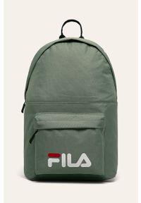 Zielony plecak Fila z nadrukiem