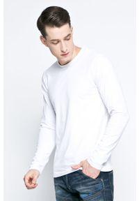 Pepe Jeans - Longsleeve. Kolor: biały. Materiał: dzianina. Długość rękawa: długi rękaw. Wzór: gładki