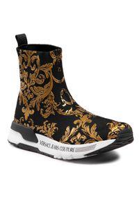Versace Jeans Couture - Sneakersy VERSACE JEANS COUTURE - E0VWASA4 71934 M27. Kolor: czarny, wielokolorowy, złoty. Materiał: materiał. Szerokość cholewki: normalna. Obcas: na płaskiej podeszwie