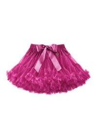 LaVashka Spódnica 27-B Różowy Regular Fit. Kolor: różowy