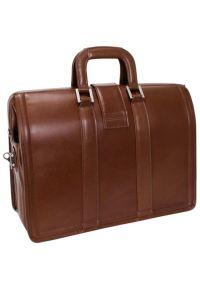 Teczka na laptopa MCKLEIN Morgan 17 cali Brązowy. Kolor: brązowy. Materiał: skóra. Styl: klasyczny