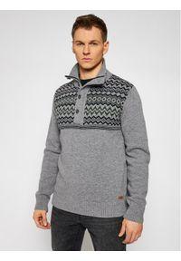 Szary sweter klasyczny CMP