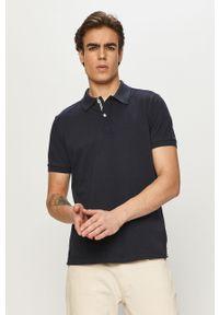 Niebieska koszulka polo Geox casualowa, krótka, polo