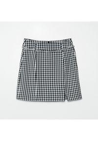 Cropp - Spódnica w kratę - Szary. Kolor: szary