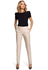 Beżowe spodnie MOE eleganckie