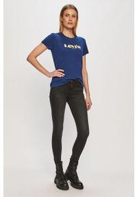 Czarne jeansy Levi's® biznesowe, gładkie, na spotkanie biznesowe