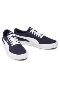 Sneakersy PUMA - C-Skate Vulc 374901 03 Peacoat/Puma White. Kolor: niebieski. Materiał: skóra, skóra ekologiczna, materiał. Szerokość cholewki: normalna. Sport: skateboard