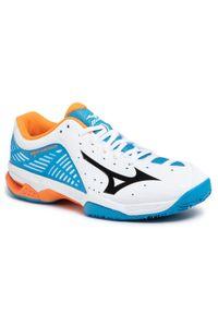 Białe buty do tenisa Mizuno Mizuno Wave, w kolorowe wzory
