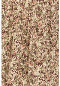 Wielokolorowa spódnica only w kwiaty, casualowa, z podwyższonym stanem