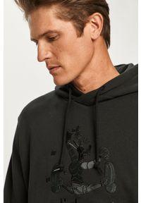 Czarna bluza nierozpinana adidas Originals z motywem z bajki, z kapturem