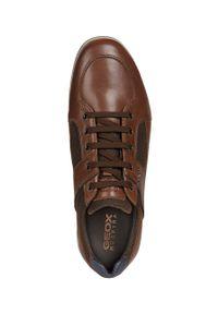 Geox - Półbuty. Nosek buta: okrągły. Zapięcie: sznurówki. Kolor: brązowy