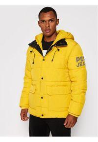 Pepe Jeans Kurtka puchowa Orwell PM402309 Żółty Regular Fit. Kolor: żółty. Materiał: puch