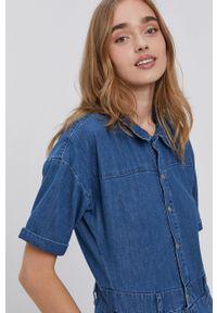 Noisy may - Noisy May - Kombinezon jeansowy. Okazja: na co dzień. Kolor: niebieski. Materiał: jeans. Wzór: gładki. Styl: casual