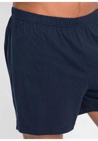 Piżama z krótkimi spodenkami bonprix ciemnoniebiesko-biały w paski. Kolor: niebieski. Długość: krótkie. Wzór: paski #5