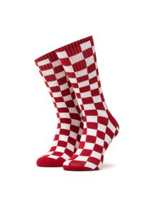 Vans - Skarpety Wysokie Damskie VANS - Checkerboard Crew VN0A3H3NRLM1 r.38,5/42 Red/White. Kolor: biały, czerwony, wielokolorowy. Materiał: materiał, nylon, bawełna, elastan
