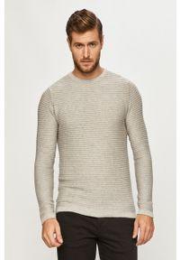 PRODUKT by Jack & Jones - Produkt by Jack & Jones - Sweter. Okazja: na co dzień. Kolor: szary. Materiał: dzianina. Długość rękawa: długi rękaw. Długość: długie. Styl: casual