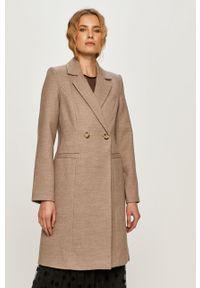 Beżowy płaszcz Vero Moda bez kaptura, klasyczny