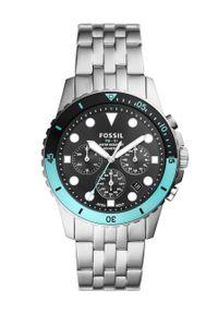 Fossil - Zegarek FS5827. Kolor: srebrny. Materiał: materiał