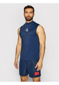 Niebieski tank top Calvin Klein Swimwear