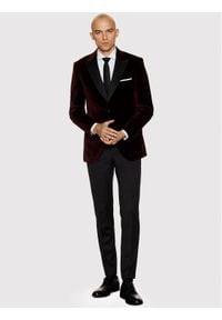 Vistula Marynarka Savoy De Lux VI9678 Bordowy Super Slim Fit. Kolor: czerwony