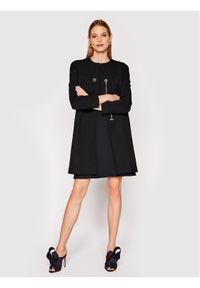Czarny płaszcz przejściowy Rinascimento