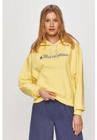 Champion - Bluza 112638. Okazja: na co dzień. Kolor: żółty. Wzór: aplikacja. Styl: casual