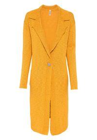 Pomarańczowy sweter bonprix długi