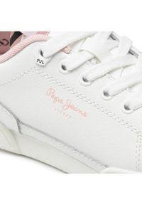 Pepe Jeans Sneakersy Lambert Zebra PGS30513 Biały. Kolor: biały. Wzór: motyw zwierzęcy