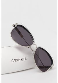 Czarne okulary przeciwsłoneczne Calvin Klein