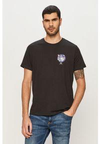 Czarny t-shirt Levi's® z nadrukiem, na co dzień