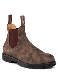 Brązowe buty zimowe Blundstone na co dzień, z cholewką