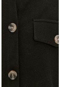 Czarna kurtka Vero Moda bez kaptura, gładkie