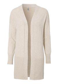 Beżowy sweter Soyaconcept długi, melanż