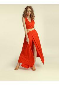 Madnezz - Sukienka Andrea 2.0 - chilli. Materiał: wiskoza, elastan. Typ sukienki: kopertowe