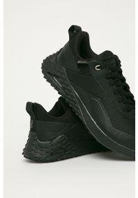 Czarne buty sportowe Reebok na średnim obcasie, na sznurówki, na obcasie, Gore-Tex