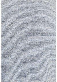 Niebieska bluza nierozpinana medicine casualowa, bez kaptura, na co dzień