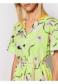Imperial Sukienka codzienna AAXTBSP Żółty Regular Fit. Okazja: na co dzień. Kolor: żółty. Typ sukienki: proste. Styl: casual