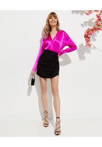 GAUGE81 - Czarna spódnica Nagato. Kolor: czarny. Materiał: jedwab. Styl: wizytowy #2