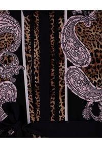 Liu Jo - LIU JO - Brązowa sukienka z paskiem. Kolor: brązowy. Materiał: materiał. Sezon: lato, wiosna. Długość: midi
