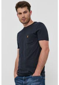 Brave Soul - T-shirt bawełniany (3-pack). Okazja: na co dzień. Kolor: niebieski. Materiał: bawełna. Wzór: gładki, aplikacja. Styl: casual