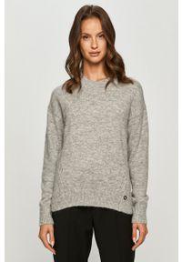 Calvin Klein Jeans - Sweter. Okazja: na co dzień. Kolor: szary. Długość rękawa: długi rękaw. Długość: długie. Styl: casual