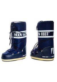 Niebieskie śniegowce Moon Boot z cholewką