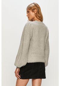 Noisy may - Noisy May - Sweter. Okazja: na co dzień. Kolor: szary. Długość rękawa: długi rękaw. Długość: długie. Styl: casual