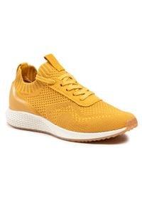 Tamaris - Sneakersy TAMARIS - 1-23714-26 Yellow 600. Okazja: na co dzień. Kolor: żółty. Materiał: materiał. Sezon: lato. Obcas: na płaskiej podeszwie. Styl: casual