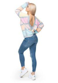Sweter w paski, krótki