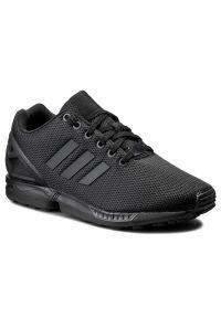 Czarne półbuty Adidas casualowe, z cholewką, na co dzień