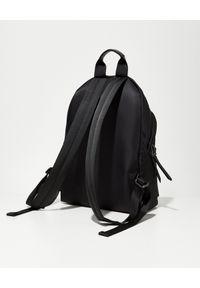 PALM ANGELS - Czarny plecak z logo. Kolor: czarny. Wzór: aplikacja