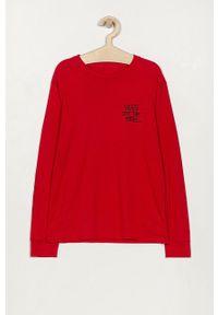 Czerwona koszulka z długim rękawem Vans na co dzień, z nadrukiem, casualowa